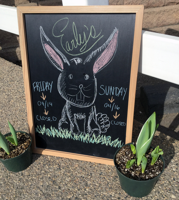 Easter Chalk Sign Small