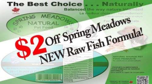 $2 Off Spring Meadows NEW Whitefish Formula